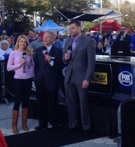 Lightning pre-game show outside of the Forum